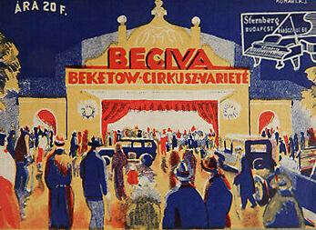 Cirque de Budapest - affiche de 1932