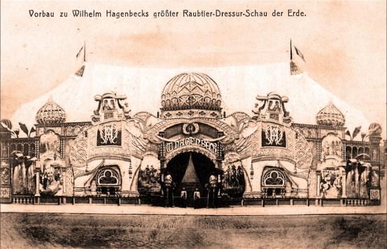 Cirque Wilhelm Hagenbeck - le chapiteau - CPA