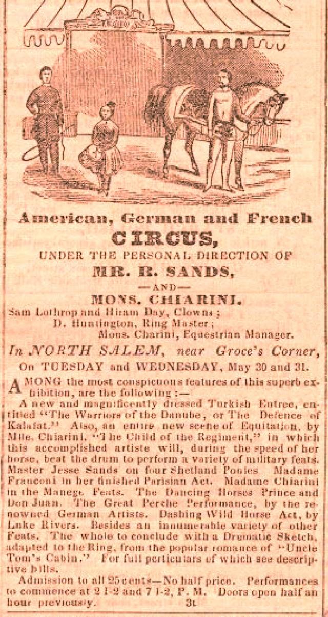 Sands et Chiarini - 22 mai 1854