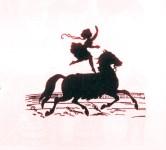 Laura de Bach - écuyère