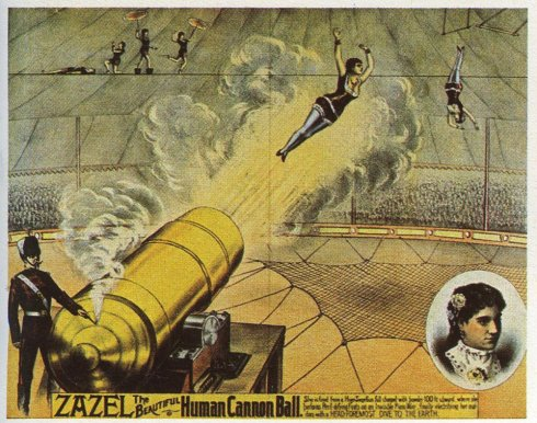 Zazel human cannon ball - affiche