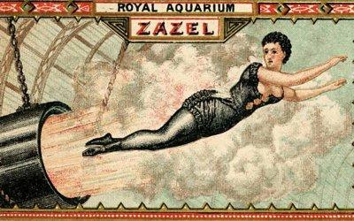 Zazel, la première femme-projectile