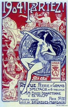 Affiche 1904 Partez ! - cirque royal