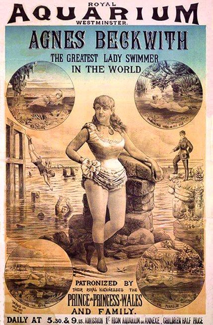 Agnes Beckwith - Royal Aquarium - affiche