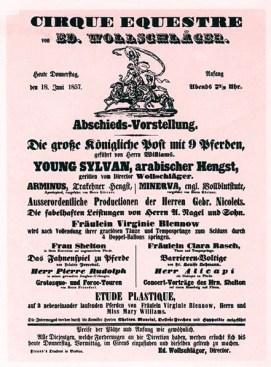 Wollschlâger - 1857 - Affiche