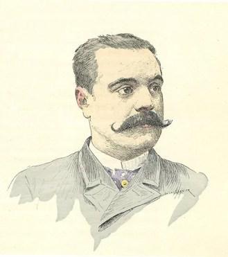 H. Houcke par Jules Garnier - dessin