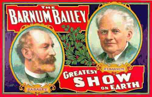 Barnum & Bailey show poster