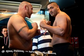 E.B.F - Weigh In - Ian Toby vs The Hit Man