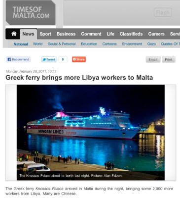Chinese Workers Arrive from Libya