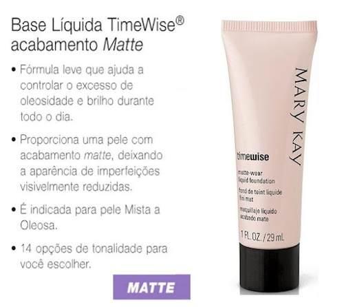 base liquida timewise acabamento matte mary kay