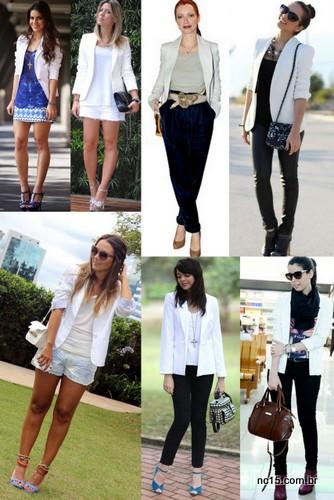 Blogueiras de blazer branco