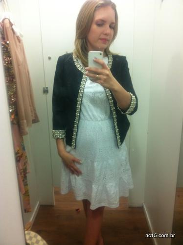Este clique já foi no final, mas muito lindo o casaco com um quê de Chanel por 249 dinheirinhos