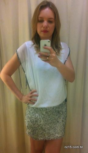 Look 2  Este é uma versão vestido da blusa que amei na Renner Vestido: 179