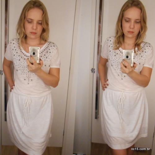 Look número três Vestido branco: 79,90