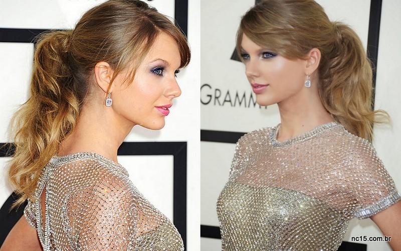 Taylor Swift: detalhe do cabelo