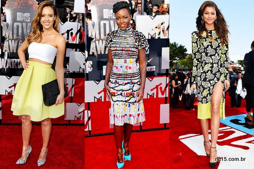 Jessica Alba, Lupita Nyong'o e Zendaya no MTV Movie Awards 2014