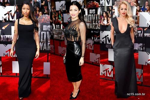 Nicki Minaj, Jenna Dewan e Rita Ora. Todas de preto na festa da MTV