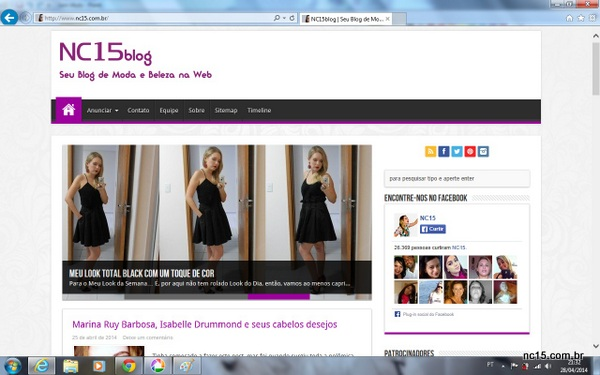 novo layout do nc15blog