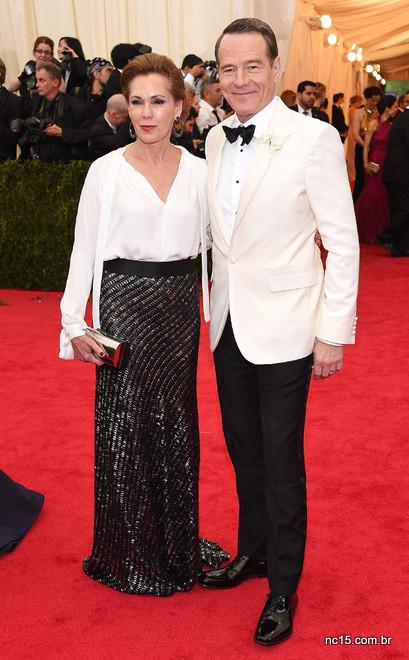 Bryan Cranston  e Robin Darden no MET de Gala 2014