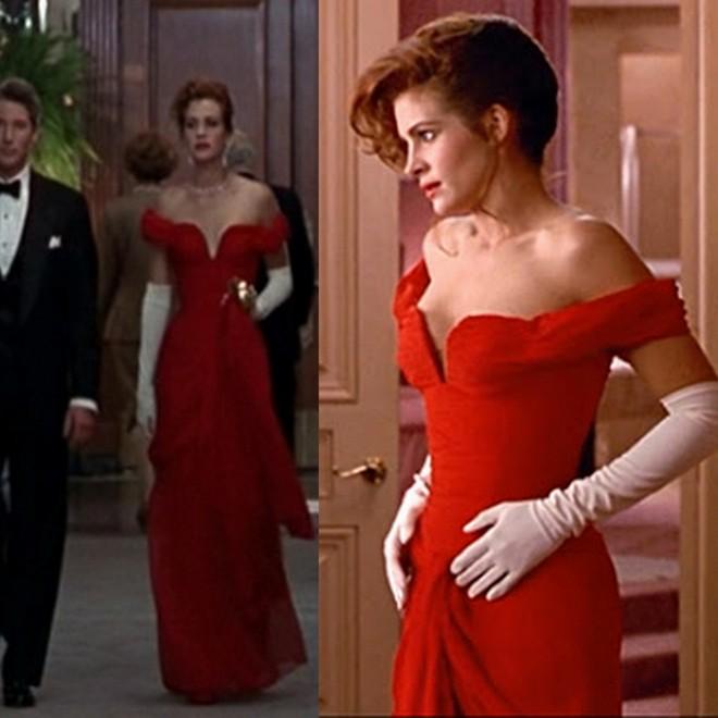 O inesquecível vestido vermelho de Julia Roberts em Uma Linda Mulher