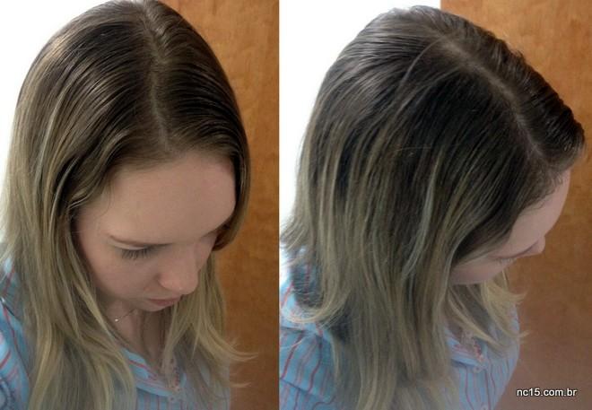cabelo sujo e oleoso antes de usar Shampoo a Seco Refresh Linha Modela + Trata da Tutanat.
