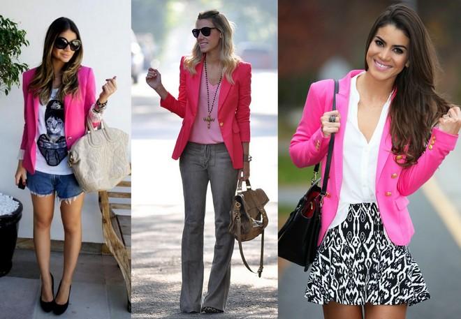 AS blogueiras Thássia Naves, Naty Vozza e Camila Coelho apostaram no look com blazer rosa