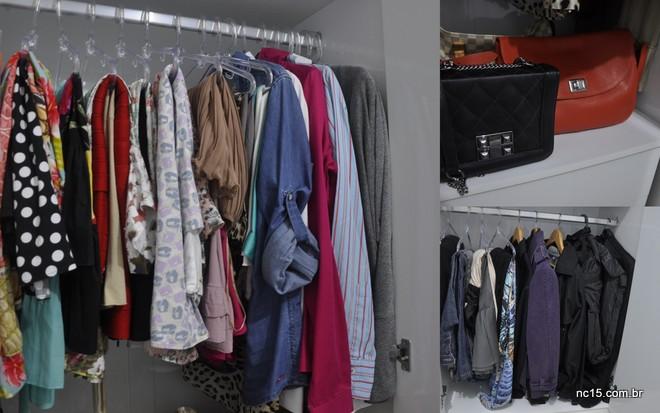 O novo armário... bem organizado sem peças que não uso mais