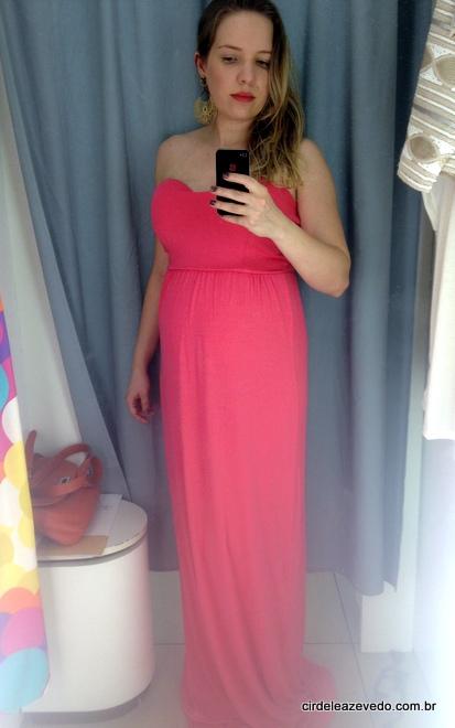 vestido longo tomara que caia cor de rosa