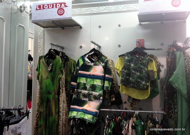 Vestido longo verde de malha e vestido curtoo de malha da Água de Coco para a C&A