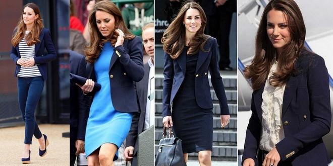 A duquesa Kate de blazer azul