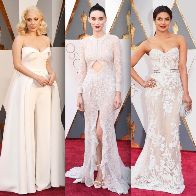 Lady Gaga veste Brandon Maxwell, Rooney Mara foi de Givenchy e Priyanka Chopra de Zuhair Murad