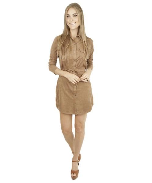Vestido-em-Camurca-Marrom
