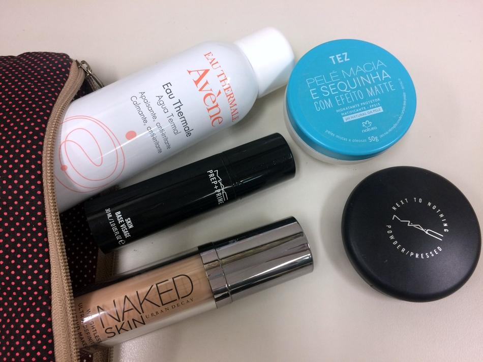 Produtos de pele usados no momento