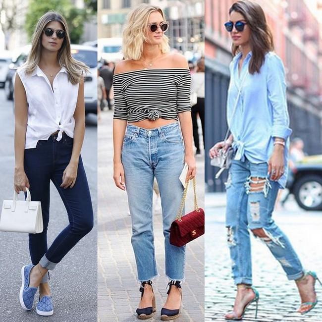 Blusa com nozinho com calça jeans
