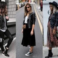 15 inspirações para usar jaqueta de couro preta já