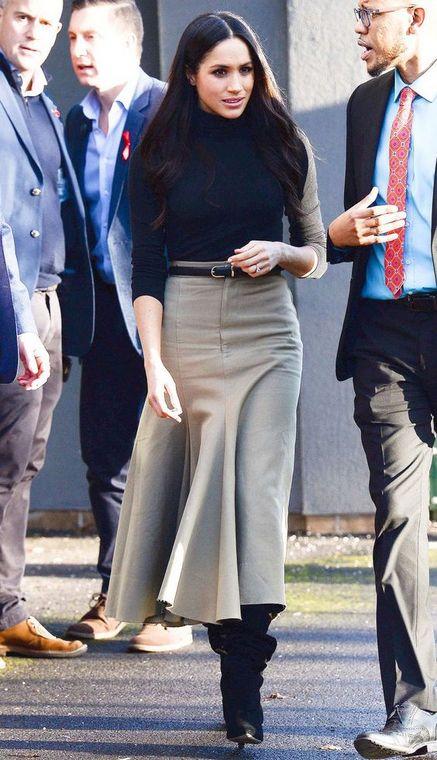 Meghan Markle's midi skirt