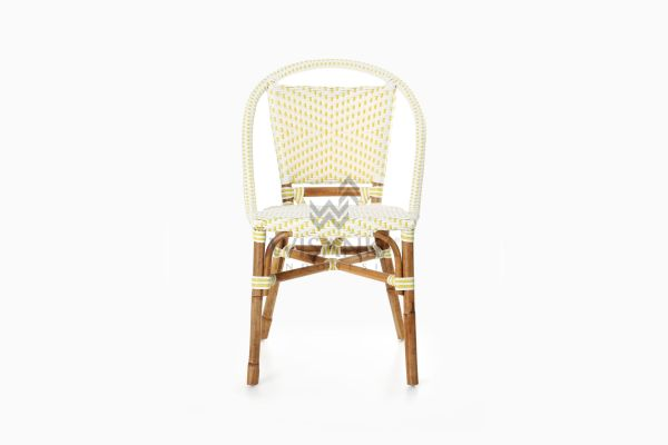 Elle Natural Wicker Dining Arm Chair front