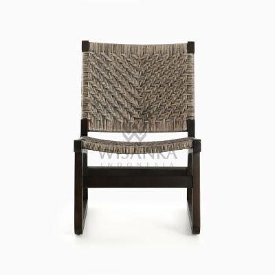 Muzu Lite Rattan Wooden Chair front