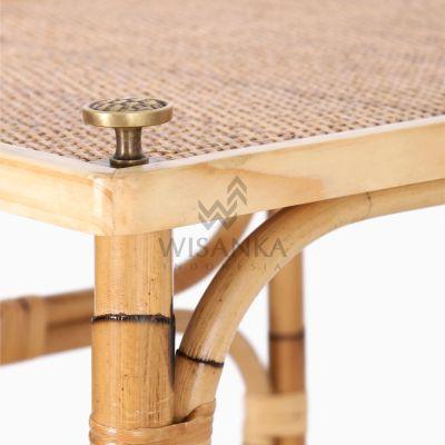 Doremi Natural Rattan Working Desk Table Detail 2