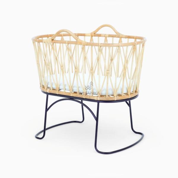 Hailey Baby Bassinet - Wicker Kids Rattan Furniture