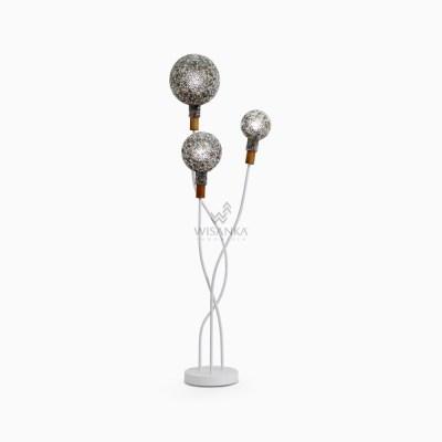 Jalasutra Floor Lamp - Wicker Pole Lamp