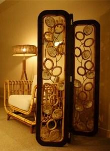 Ev Dekorasyon Fikirleri için Rattan Mobilya - Rattan Oda Bölücü