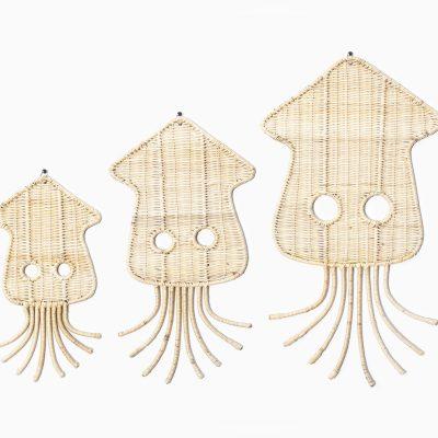 Squidy Kids Wall Décor - Wicker Rattan Nursery Décor