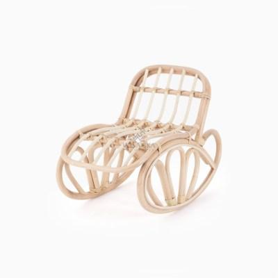 Goldie Doll Rocking Chair - Wicker Kids Furniture