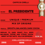Cirelli Coffee El Presidente