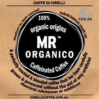 100% Organic Origins Mr Organico Caffeinated Coffee