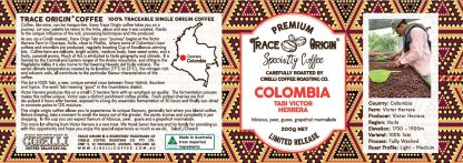 Image of label of Colombia Tabi Victor Herrera Specialty Coffee