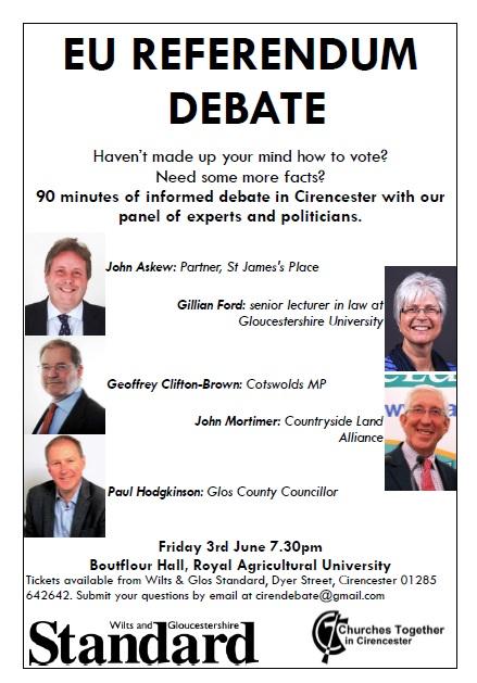 EU Referendum Debate Poster