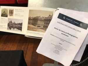 Le catalogue illustré et le listing des lots de la vente aux enchères