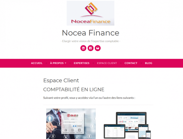Formation digitale et site web de Nocea Finance